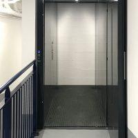 SAFtech . Atelier Roquépine . Élévateur monte-charge . NIV-MCX 2 niveaux . NIV1
