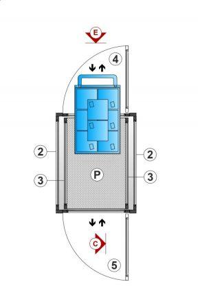 SAFtech . élévateur monte-charge NIV-MCX S . Plan