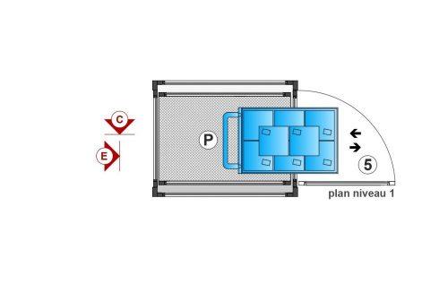 SAFtech . Elévateur monte-charge NIV-MCX . plan niv 1